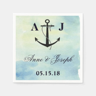 Nautical watercolor Napkins Paper Napkin