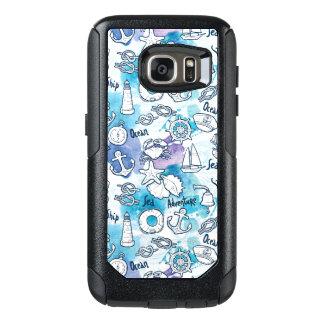 Nautical Watercolors Pattern OtterBox Samsung Galaxy S7 Case