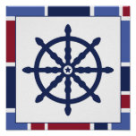 Nautical Wave Nursery Wheel Print