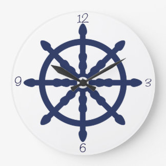 Nautical Wave Nursery Wheel Wallclocks