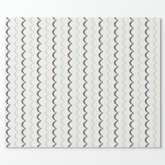 Nautical Waves Wrapping Paper