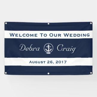 Nautical Wedding Banner 3' x 5'