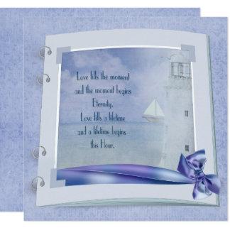 Nautical Wedding Book Card