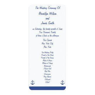Nautical Wedding Ceremony Programs Cards 10 Cm X 24 Cm Invitation Card