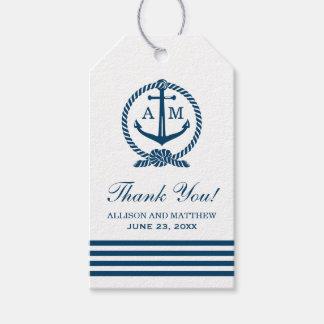 Nautical Wedding Favor Tags | Anchor Monogram