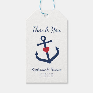 Nautical Wedding Favor Tags -   Navy Blue Anchor