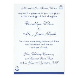 Nautical Wedding Invitations Bride's Parents