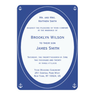 Nautical Wedding Invitations Groom's Parents