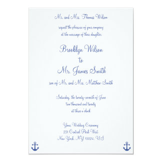 Nautical Wedding Invitations With Groom's Parents