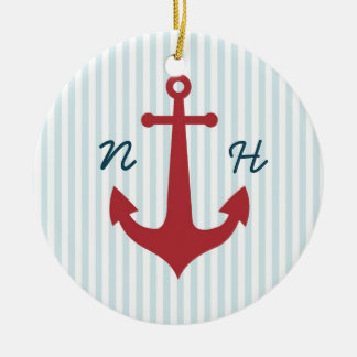 Nautical wedding keepsake ornament