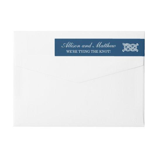 Nautical Wedding   Navy Return Address Wraparound Return Address Label