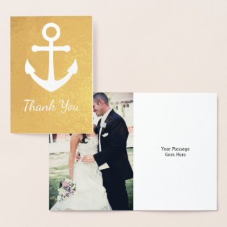 Nautical Wedding Photo or Birthday Thank You Card