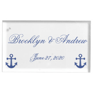 Nautical Wedding Place Card Holders