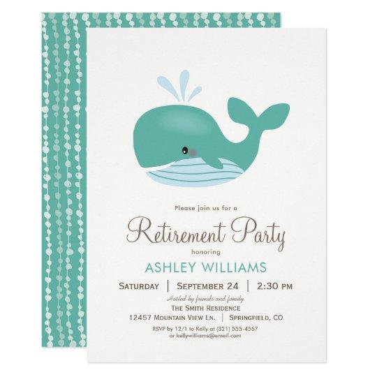 Nautical Whale Retirement Party Invitation