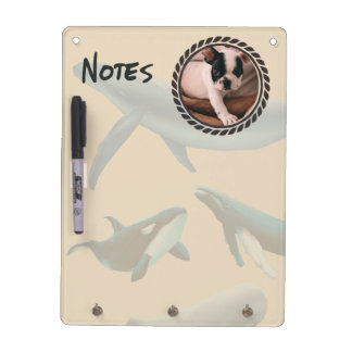 Nautical Whales with Photo Dry Erase Board
