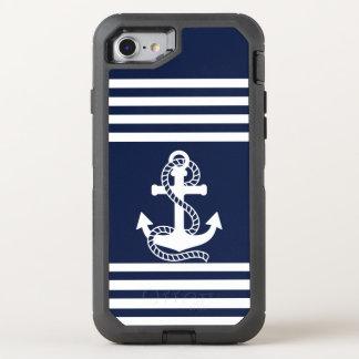 Nautical White Blue Anchor OtterBox iPhone 7 Case