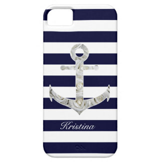 Nautical white rose anchor barely there iPhone 5 case