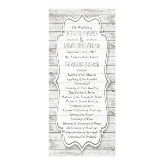 Nautical Whitewashed Wood Beach Wedding Collection Rack Card