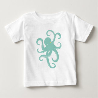 Nautical Wild Animal Octopus Coastal Illustration Baby T-Shirt