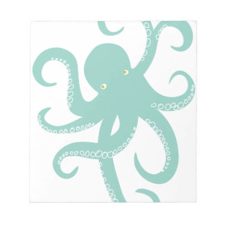Nautical Wild Animal Octopus Coastal Illustration Notepad