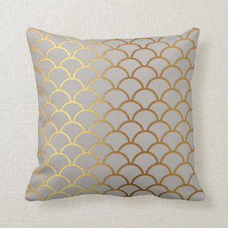 Nautical Yacht Club Fisherman Golden Fish Scales Cushion