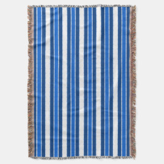 Nautical-Yacht_Home__Blue_White_Stripes Throw Blanket