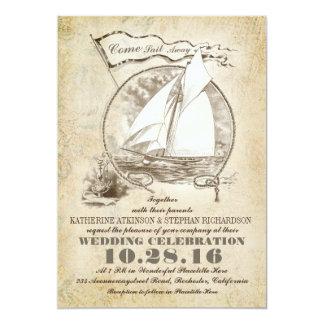 Nautical yacht wedding invitation-Come Sail Away 13 Cm X 18 Cm Invitation Card