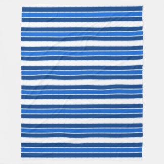 NauticaLBlue-Boat-Decking-STRIPES_L-Fleece Blanket