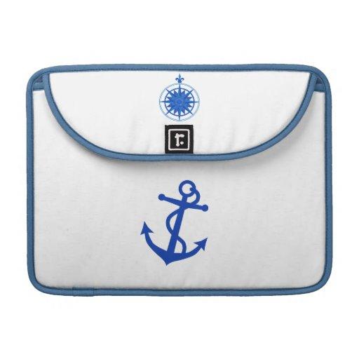 Nautically themed design MacBook pro sleeves