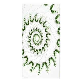 Nautilus Fractal Art Customized Photo Card