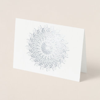 Nautilus inspired kaleidoscope foil card