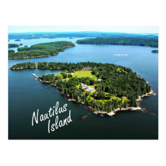 "Nautilus Island: ""I myself..."" Lowell postcard"