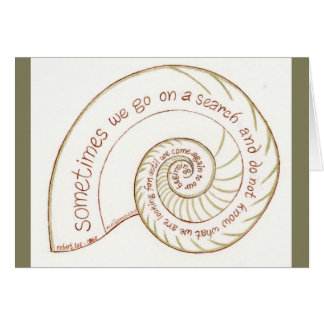 Nautilus Notecard with Robert Lax Quote