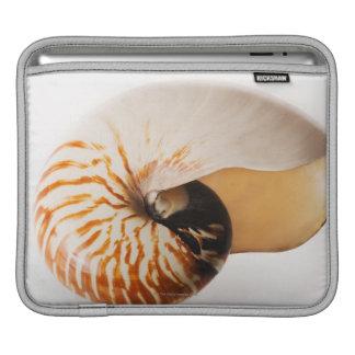 Nautilus seashell (Nautilus stenomphalus) iPad Sleeve