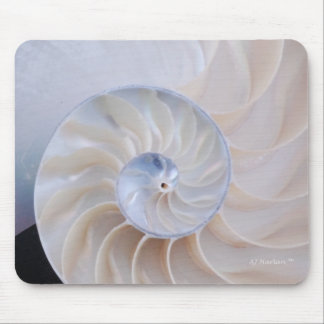 Nautilus Shell Abstract Mouse Pad