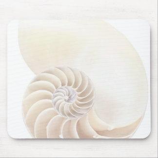 Nautilus shell, close-up mouse mat