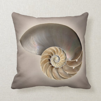 Nautilus shell cushion