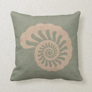 Nautilus Shell Seafoam Green Cushion