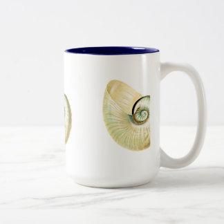 Nautilus shell Two-Tone coffee mug