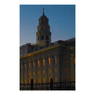 Nauvoo Temple at Sunset Stationery