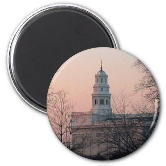 Nauvoo Temple at Twilight 6 Cm Round Magnet