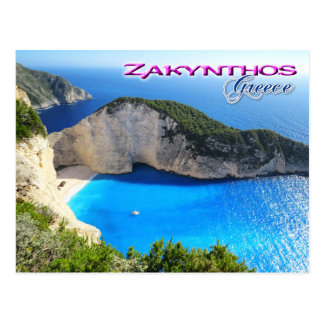 Navagio Beach, Zakynthos, Greece Postcard