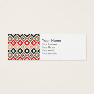 Navajo Aztec Tribal Print Ikat Diamond Pattern Mini Business Card