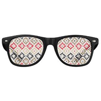 Navajo Aztec Tribal Print Ikat Diamond Pattern Retro Sunglasses