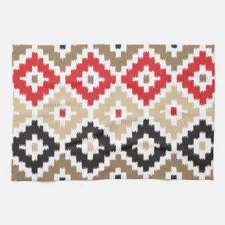 Navajo Aztec Tribal Print Ikat Diamond Pattern Tea Towel
