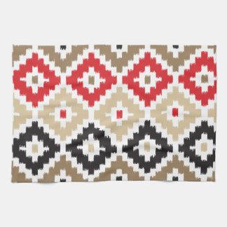 Navajo Aztec Tribal Print Ikat Diamond Pattern Towel