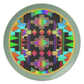 Navajo Blanket Plates