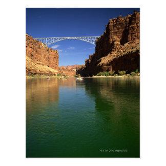 Navajo bridge over river 2 postcard