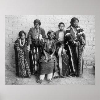 Navajo Chief's Family, 1901 Poster