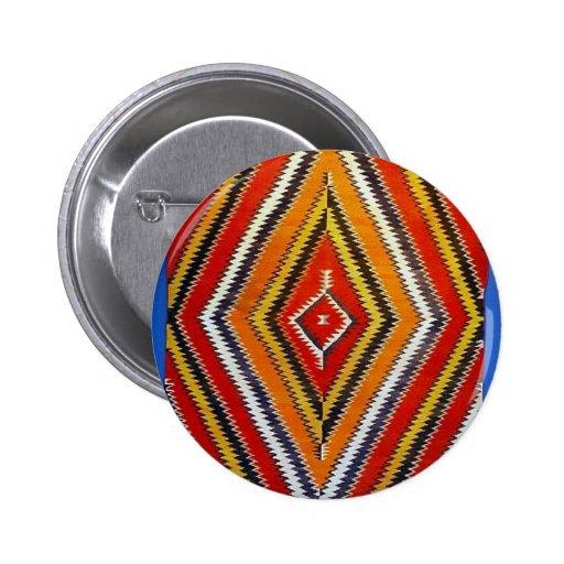 Navajo Designs 6 Cm Round Badge
